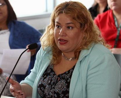 Presidenta de Servidores Públicos Unidos en Puerto Rico, Maruxa Cárdenas Surillo