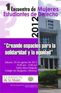 Primer Encuentro de Mujeres Estudiantes de Derecho 2012