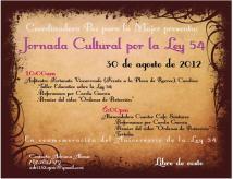 Jornada Cultural por la Ley 54
