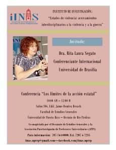 Conferencia: Los límites de la actividad estatal - Universidad de Puerto Rico, Recinto de Río Piedras