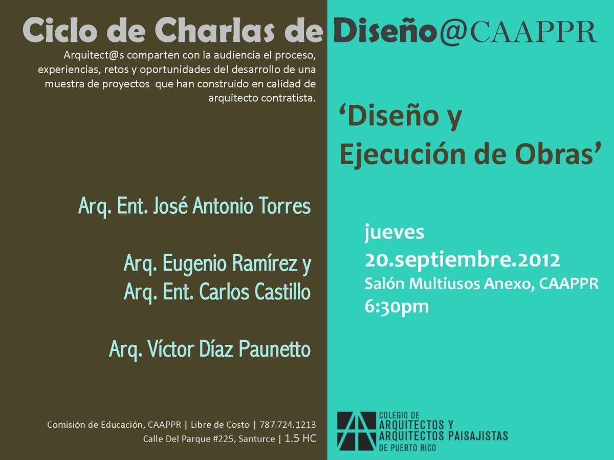 Ciclo de charlas en el CAAPPR: Diseño y ejecución de obras