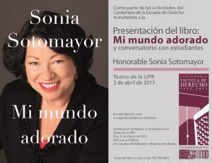 Hon. Sonia Sotomayor presentará libro en Teatro de la Universidad de Puerto Rico