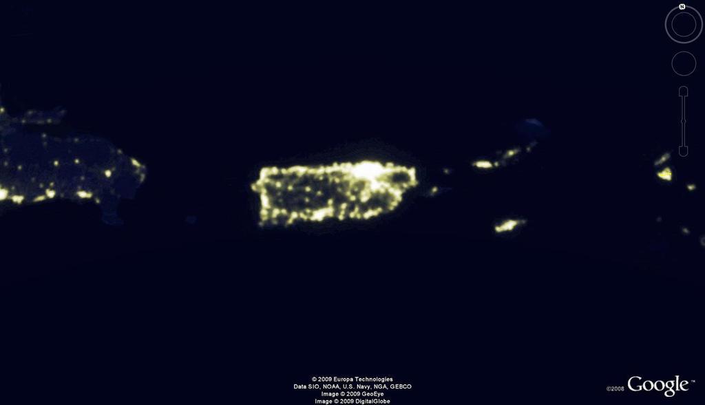 Contaminación lumínica en Puerto Rico