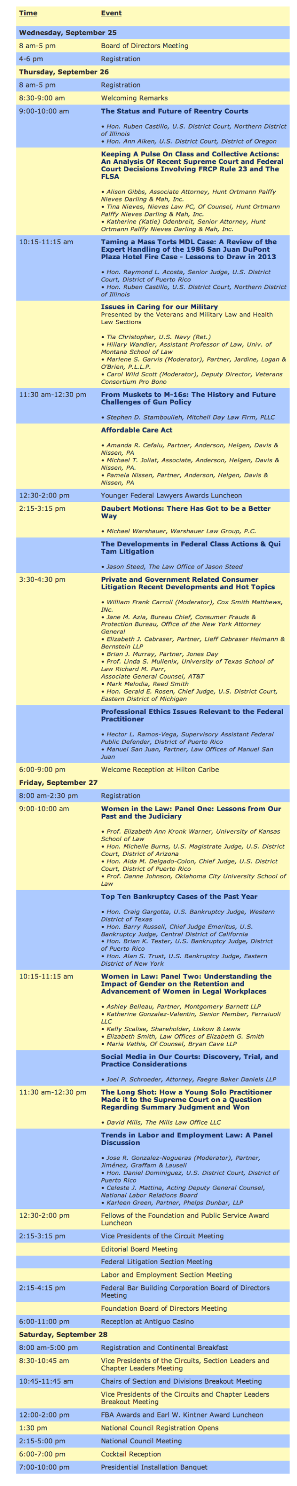 FBA 2013 - Agenda