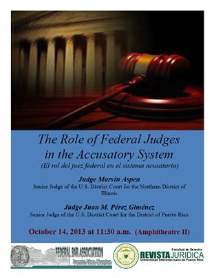 El rol del juez federal en el sistema acusatorio
