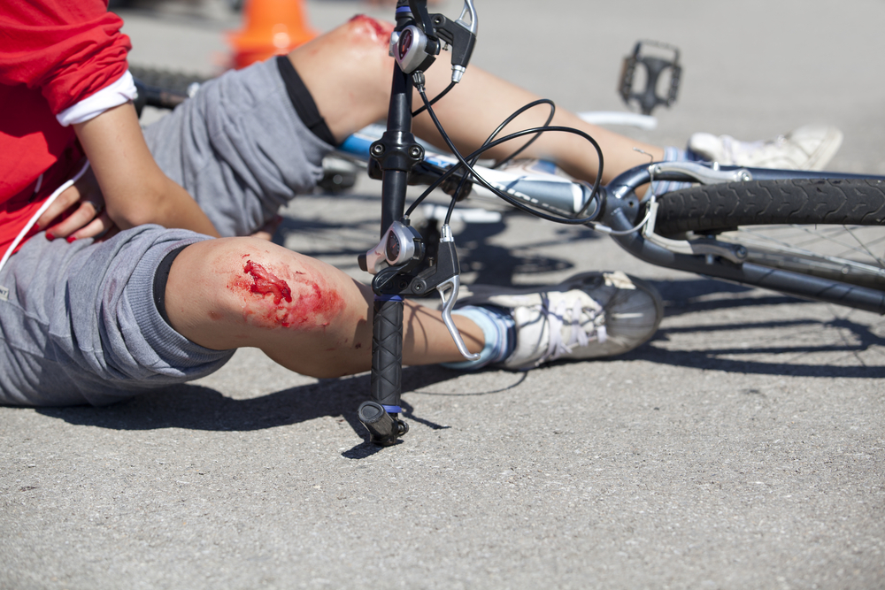 Bici accidente