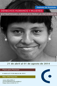 """Posgrado en la Universidad de Chile: """"Derechos Humanos y Mujeres: Estrategias Jurídicas para la Incidencia"""""""