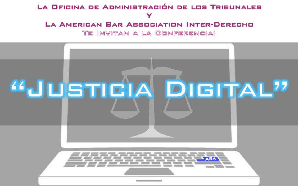Conferencia de justicia digital en la Inter Derecho