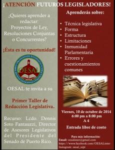 ¿Interesas trabajar en la Legislatura? Taller de redacción legislativa en la Inter Derecho