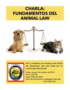 Charla: Fundamentos del Animal Law
