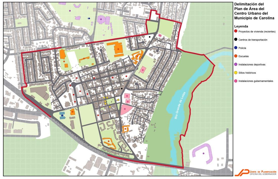 Junta de Planificación adopta Plan de Área del Centro Urbano del Municipio de Carolina