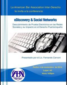 Descubrimiento de prueba electrónica en las redes sociales