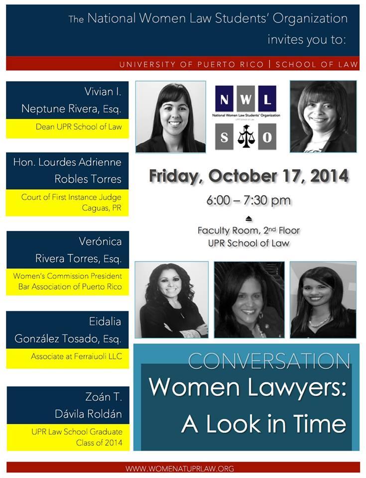 Mujeres abogadas a través del tiempo en Derecho UPR