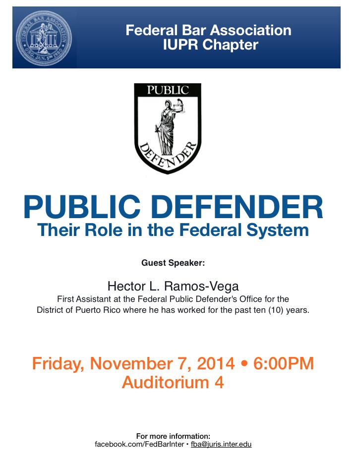 El rol del defensor público en el sistema federal