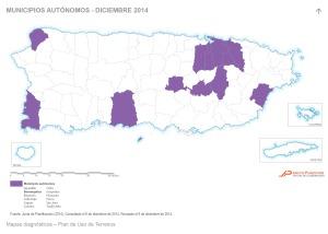 Municipios autónomos - diciembre 2014