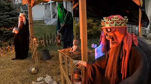 Autoridades ordenan retiro de nacimiento zombi