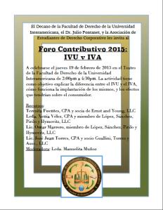 IVA v. IVU: Inter Derecho invita a foro contributivo