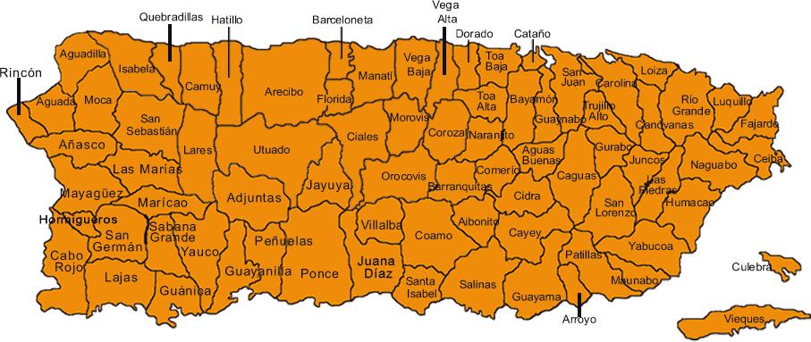 municipios de Puerto Rico