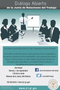 Diálogo abierto de la Junta de Relaciones del Trabajo