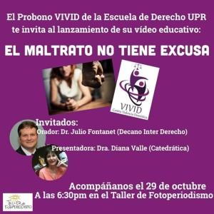 Lanzamiento y promoción de vídeo educativo de orientación jurídica a sobrevivientes de violencia de género