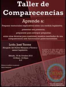 taller comparecencias OESAL