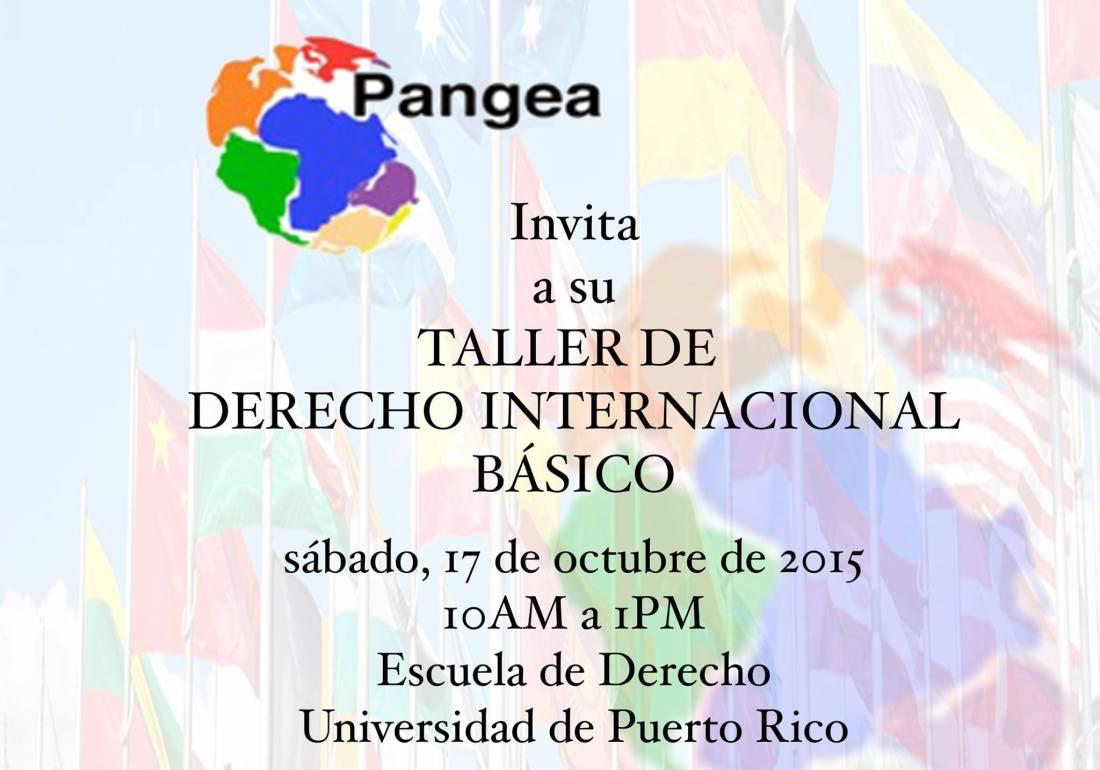 Pangea convoca a taller sobre derecho internacional