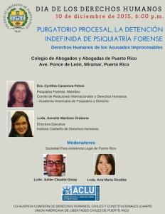 Purgatorio Procesal, La Detención Indefinida de Psiquiatría Forense