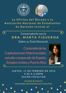 Conversatorio en la Inter Derecho: Contenido de las Capitulaciones Matrimoniales, estudio comparado de España, EEUU y Puerto Rico