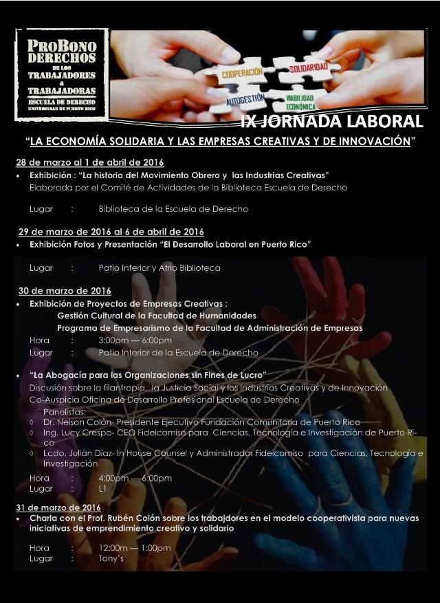 Escuela de Derecho de la UPR celebra su IX Jornada Laboral