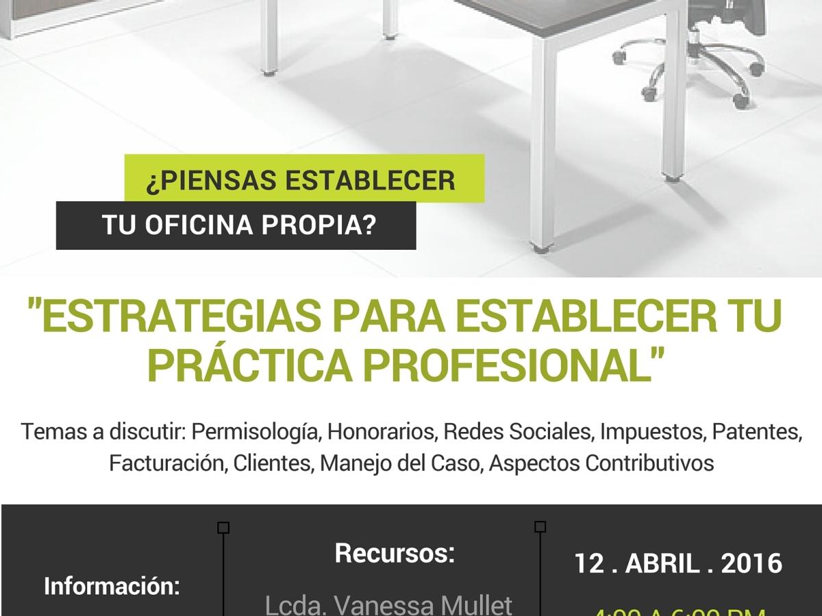 Taller práctico en la Inter Derecho: Estrategias para establecer tu práctica profesional