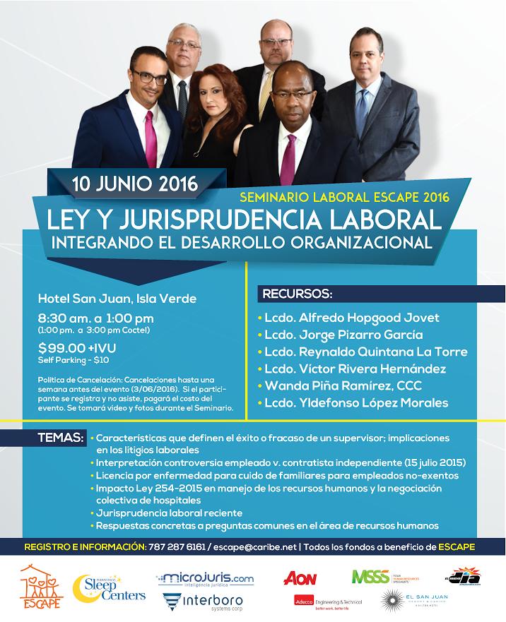 Reconocidos abogados se reúnen en importante seminario sobre ley y jurisprudencia laboral