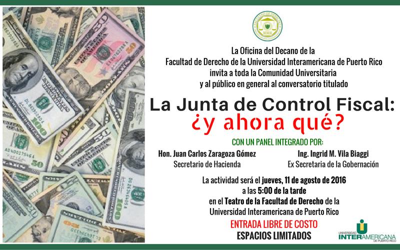 La junta de control fiscal... ¿y ahora qué?