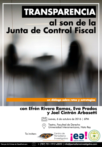 Transparencia al son de la Junta de Control Fiscal, un diálogo sobre retos y estrategias