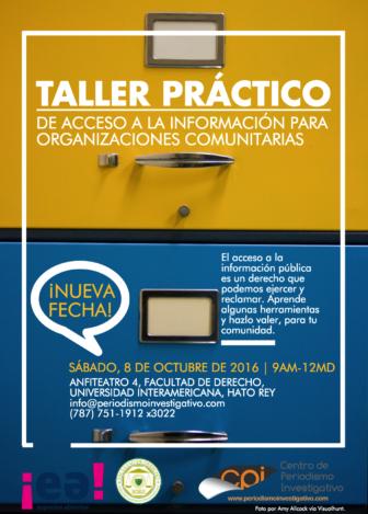 Taller práctico de acceso a la información para organizaciones comunitarias