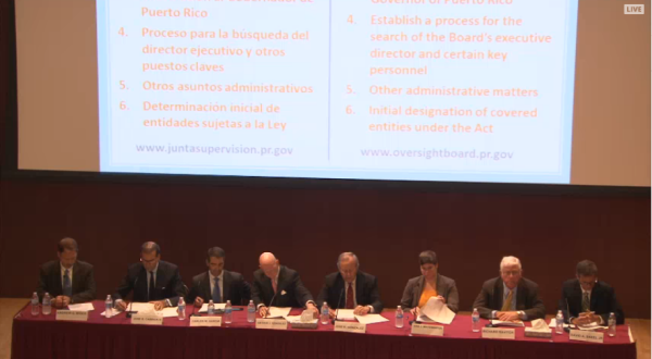 [EN VIVO] Primera reunión de la Junta de Supervisión Fiscal