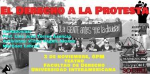 El derecho a la protesta