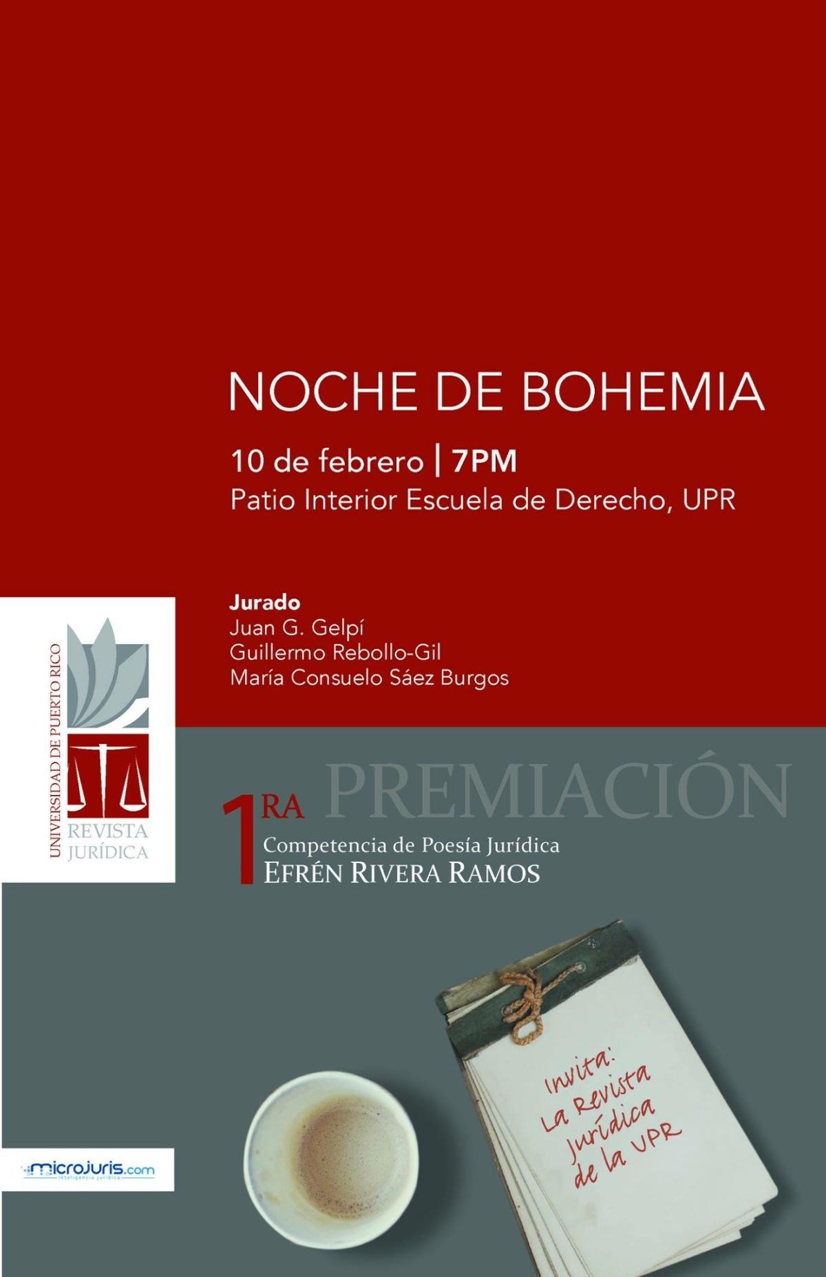 Noche de bohemia: Premiación de la Competencia de Poesía Jurídica Efrén Rivera Ramos