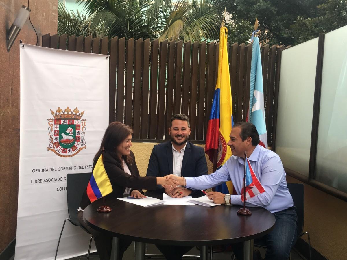 Oficina de Puerto Rico en Colombia firman acuerdo de comercialización de productos y servicios