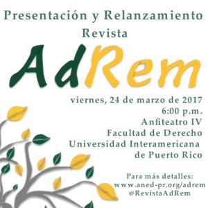 Presentación de la Revista AdRem en la Inter Derecho