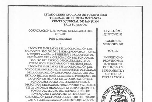 Tribunal otorga entredicho provisional contra Unión de Empleados de la CFSE de cara al paro general