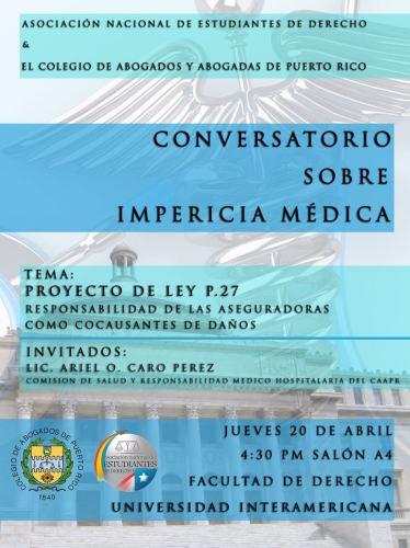 Conversatorio sobre impericia médica en la Inter Derecho