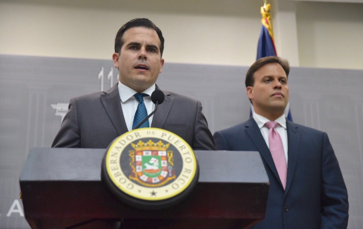 Ricardo Rosselló Nevares y Elías Sánchez