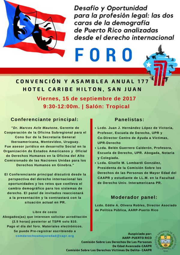 Desafío y oportunidad para la profesión legal: Las dos caras de la demografía de Puerto Rico analizadas desde el derecho internacional