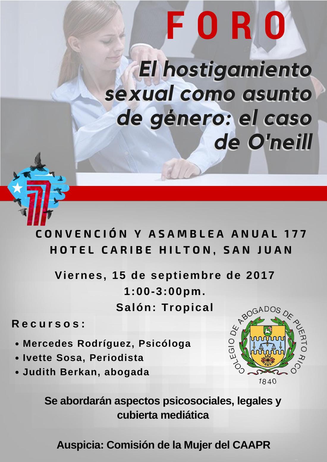El hostigamiento sexual como asunto de género: El caso de O'Neill