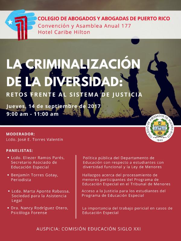 La criminalización de la diversidad: Retos frente al sistema de justicia