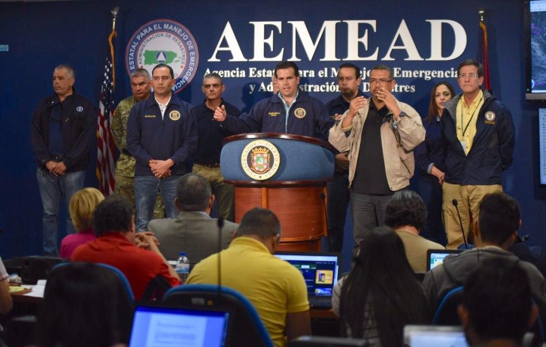 Gobernador urge a la ciudadanía a buscar refugio seguro ante el paso del huracán María