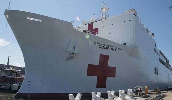 Buque USNS Comfort recibirá pacientes de forma directa en San Juan