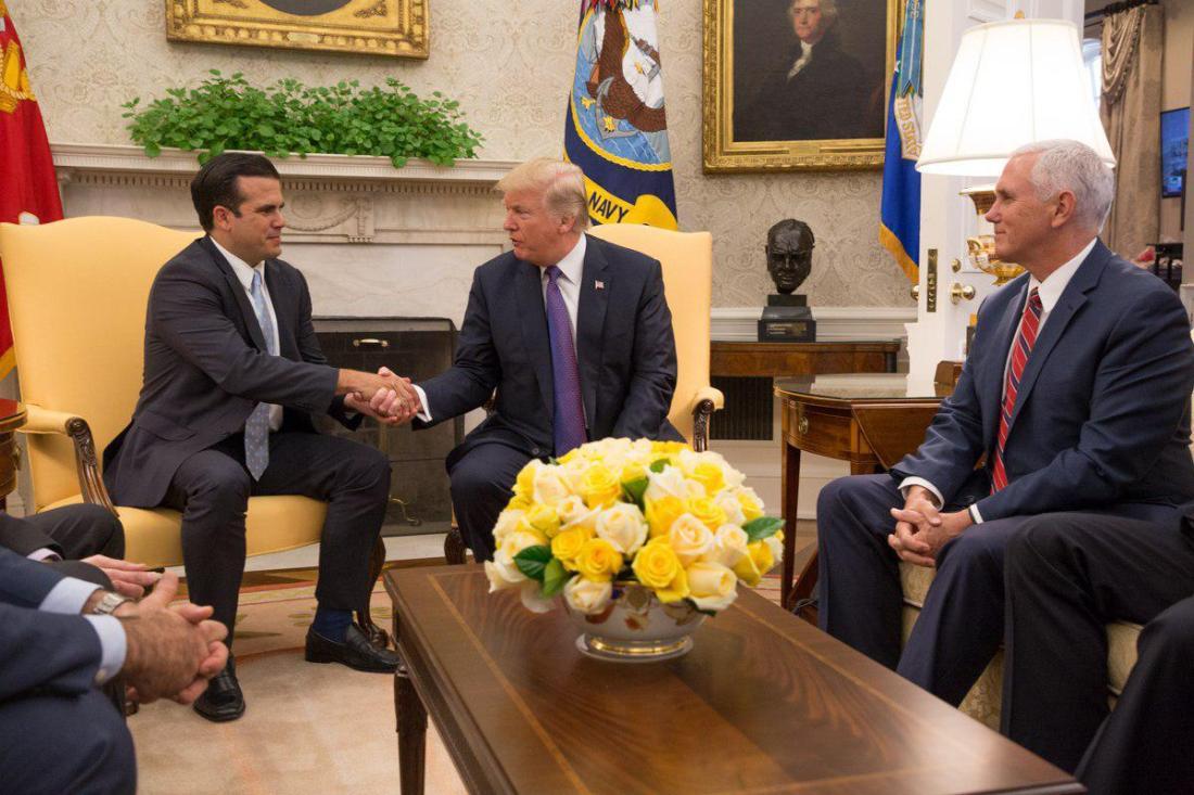 [TRANSCRIPCIÓN] Reunión entre el Gobernador Ricardo Rosselló y el Presidente Donald Trump en la Oficina Oval en la Casa Blanca