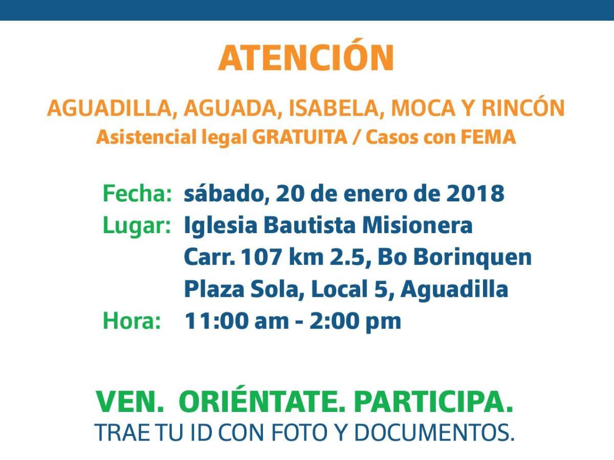 ¡Buscamos abogados voluntarios! Oportunidad esta semana en Aguadilla