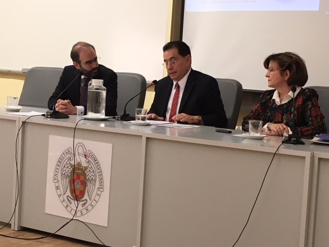 Presidente de la Inter clausura seminario internacional de derecho comparado en Madrid
